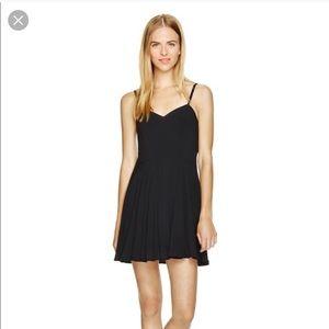 Aritzia maroon mini skater dress